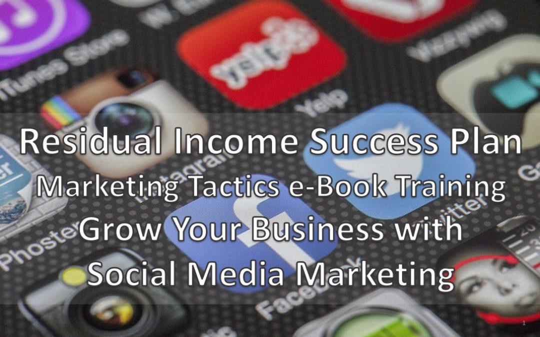 Residual Income Success Plan Social Media Marketing Training e-Book