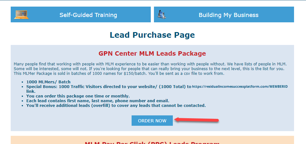Purchase Leads